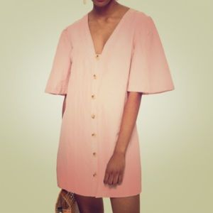 NWT💕Topshop Angel Sleeve Linen Shift Dress
